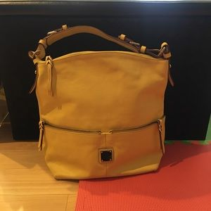 Dooney And Bourke yellow shoulder bag
